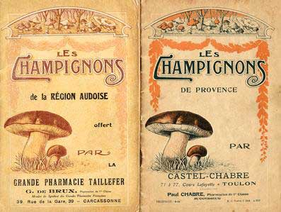 French pharmacy booklets - fungi