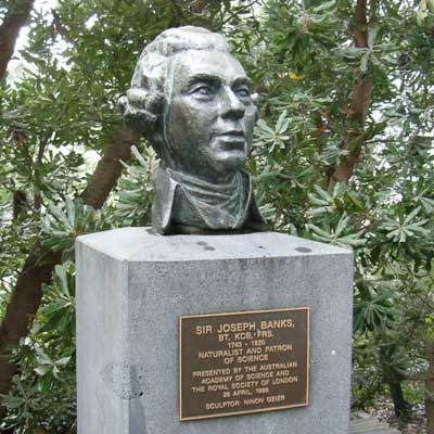 bust of Joseph Banks